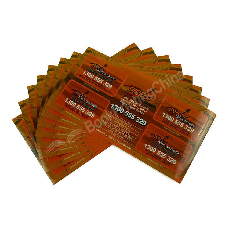 Customized Size Paper Sticker Printing With Gloss Lamination
