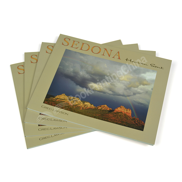 Custom Size Landscape Perfect Binding Full Color Scenery Book