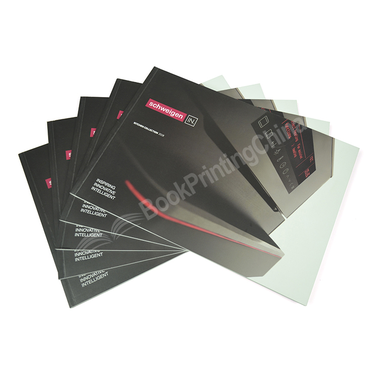 A5 Landscape Perfect Bound Matt Lamination Booklet Printing