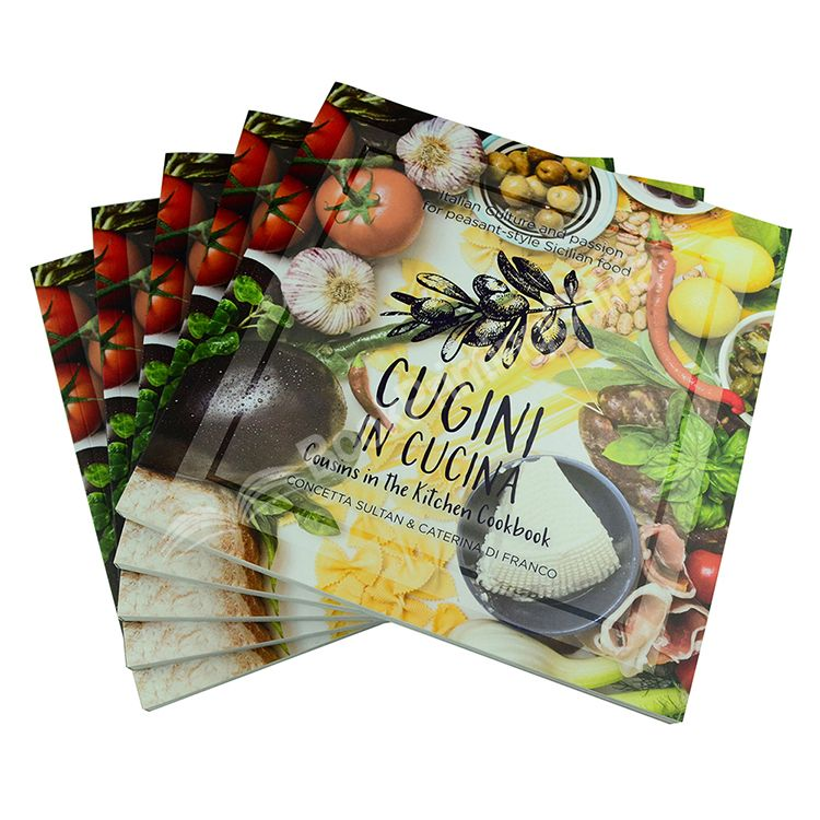 High Quality Custom Perfect Bound Cookbook Printing