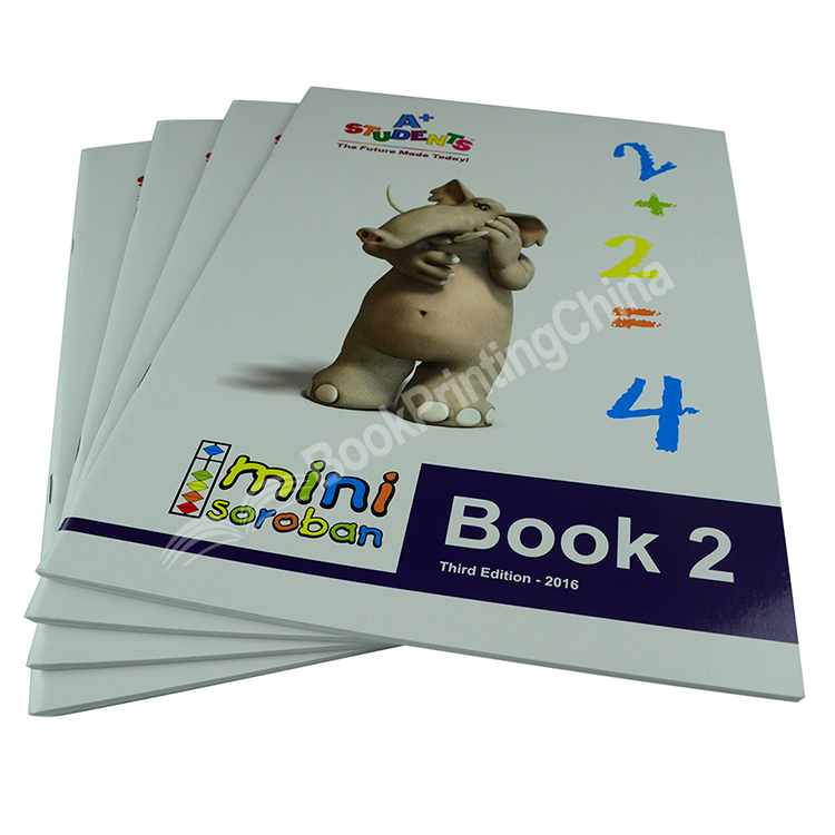 A4 Size Saddle Stitch Full Color Book Printing For Children