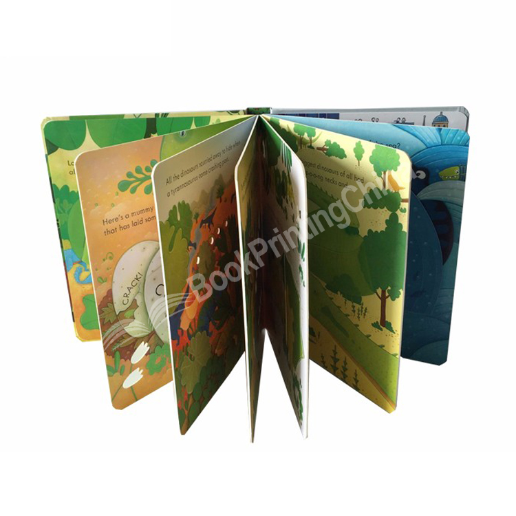 Baby Cardboard Books Hard Cover Children Board Book Printing