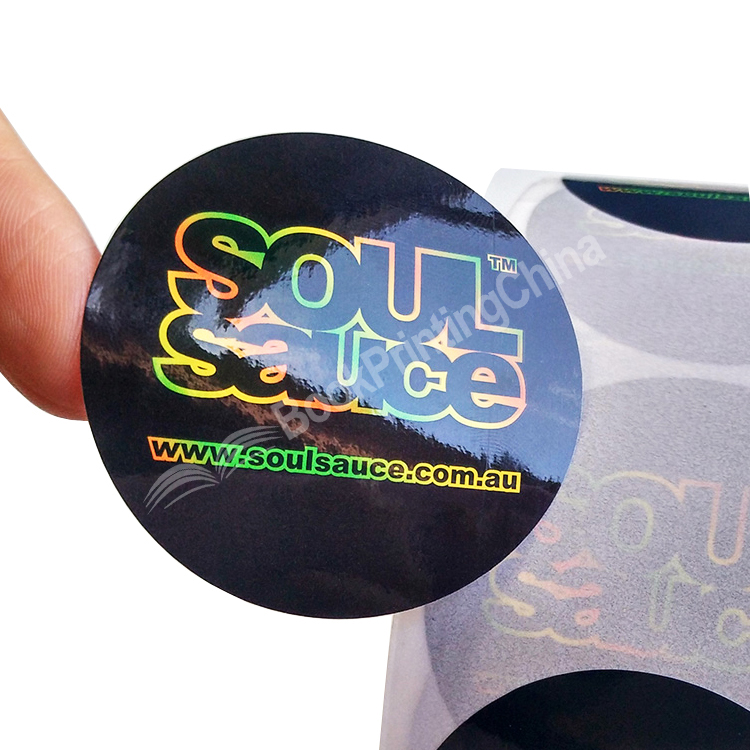 Customized Size Gloss Lamination PVC Sticker Printing With Roll