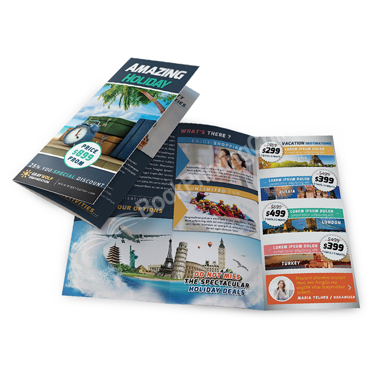 Customized Made Printing Promotional Advertising Brochure / Leaflet