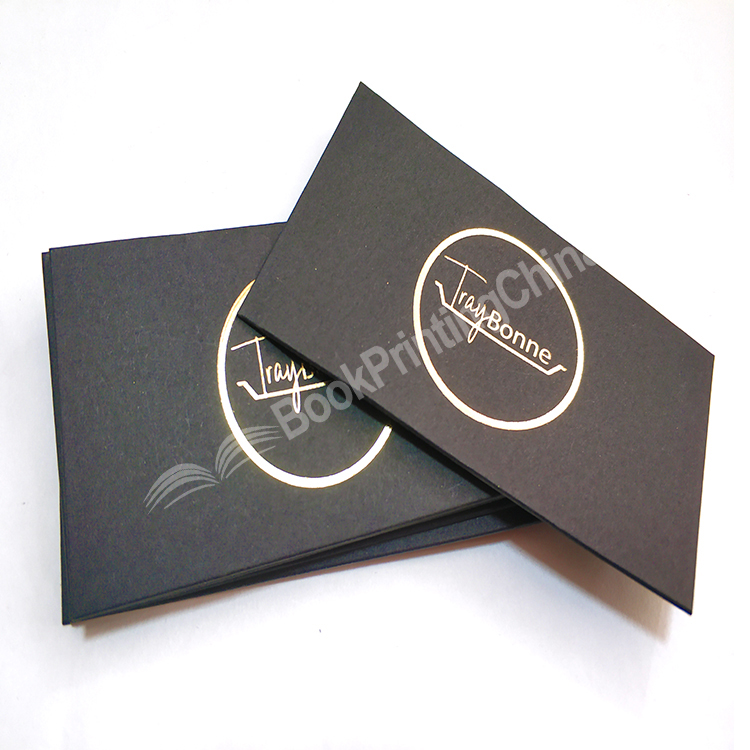 Personalized Design Gold Foil Stamping Edge Business Card Printing