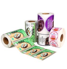Synthétique-matted-sticker-label-paper-rolls-for