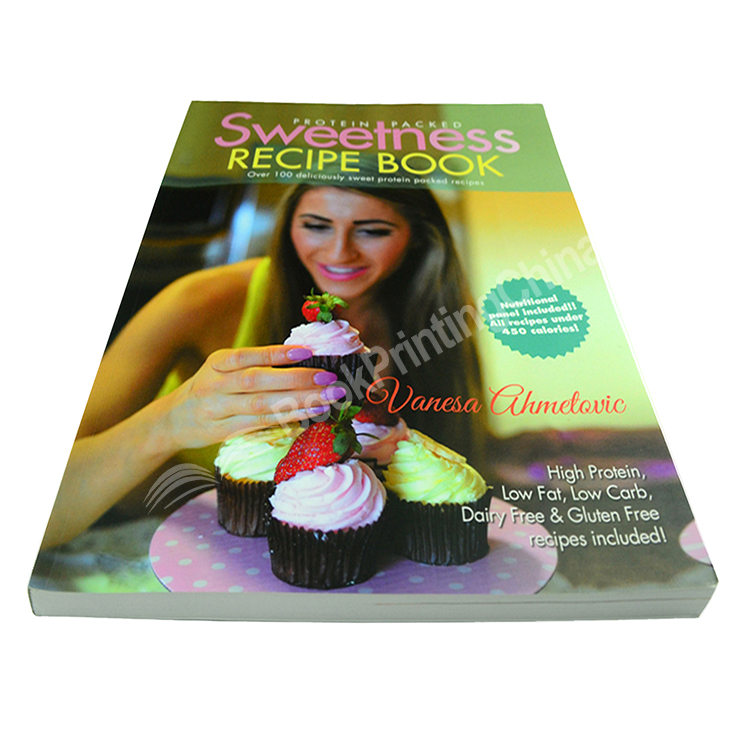 Custom Cheap Sweetness Recipe Book Printing