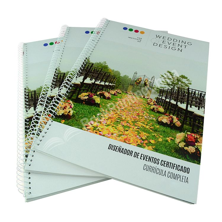 Full Color Printing Spiral Binding Catalogue High Quality