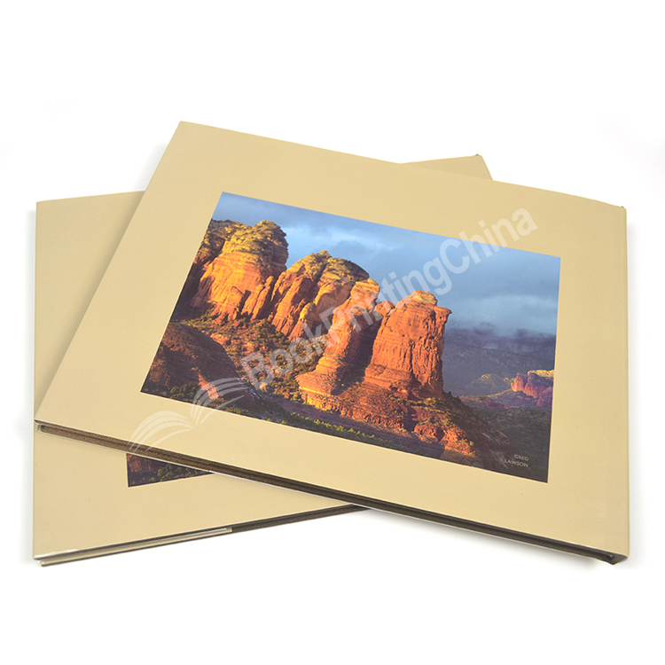 New Design Custom Hardcover Photo Book Printing Landscape Case Bound With Dust Jacket
