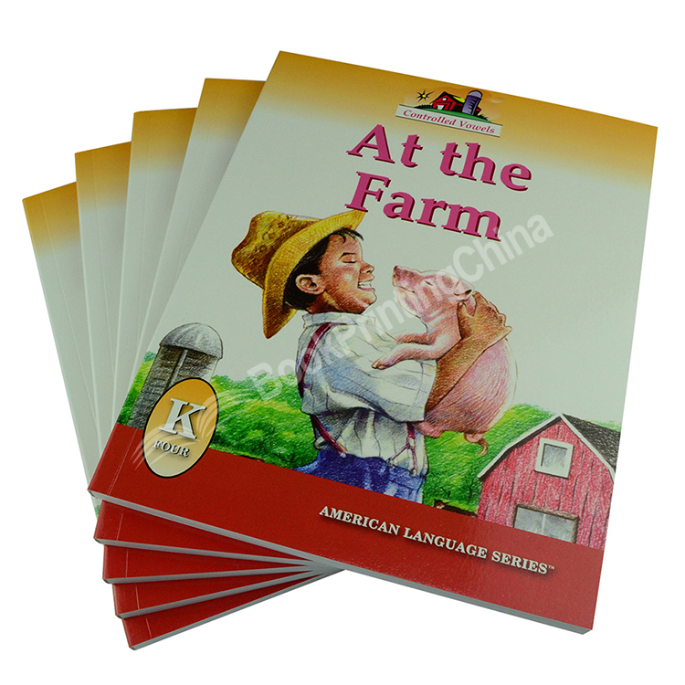 Softcover Children Book Printing Student Text Book Printing Service In China