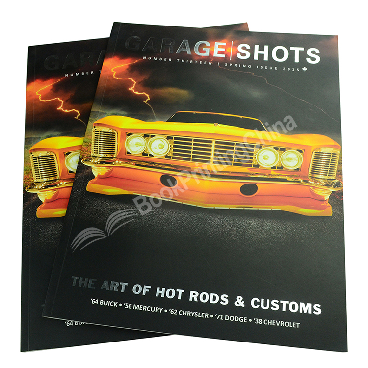 Full Color A4 Cheap Magazine Printing With Gloss Lamination
